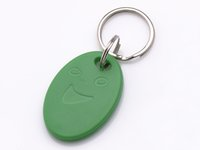 100pcs / bag RFID chave fobs anel verde 125KHz TK4100 / EM 4100 proximidade ABS ID tags para controle de acesso