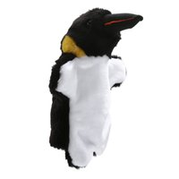 Wholesale cute penguin plush toys - New Arrival Hand Puppets Cute Penguin Plush Velour Animals Hand Puppets for Kid Child Gifts Learning Aid Toy Brinquedo Fantoche