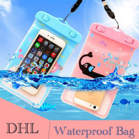 Wholesale Iphone Carton Cases - Summer Waterproof case bag PVC Carton Dry Bag Protective universal Phone Bag Pouch Bags For Diving Swimming For smart phone over 5.8 inch