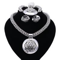 ingrosso insieme dei monili africani del partito-Accessori per feste Set di gioielli da sposa Per donna Perline africane Collana a catena Orecchini Orecchini a forma di anelli