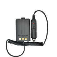 Vente en gros - Baofeng Battery Eliminator Chargeur voiture pour radio portable UV 5R UV-5RB UV-5RA Two Way radio Walkie Talkie Accessoires