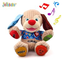 Wholesale Play Sounds Flash - Jollybaby 35cm Plush Animal Puppy Doll Baby Toys Music Play Learning Dog Cartoon Early Development Education Kids Child Toy