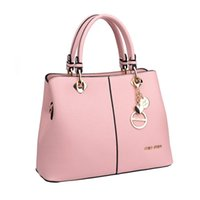 Wholesale Casual Dress Shops - Totes Bags Women Fashion Casual Solid Black Red Pink Leather Zipper Handbags High Quality Brands PU Leather Travel Shopping Bag