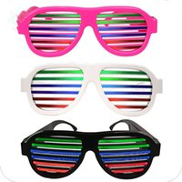 Wholesale Glass Blinds - Voice control Blinds LED Glowing Glasses Halloween party LED glasses fashion Bar flashing glasses led Lighted Toys C2555