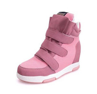 Wholesale Cheap Pink Wedges - Cheap New 2017 spring autumn Wedges High Heels Ladies Casual Shoes vulcanize Women slip on platform shoes female chaussure femme