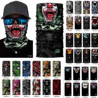 Wholesale Motorcycle Mask Dhl - High Quality 100pcs Halloween Skull Face Mask Multi Function Bandana Ski Motorcycle Biker Scarf Sports Face Masks DHL Free shipping