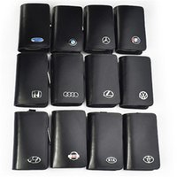 Wholesale Bmw Leather Bag - Genuine Leather car Key case for Lexus Audi Mercedes Peugeot Toyota Vw Skoda Bmw Hyundai Protective car key Covers case bag