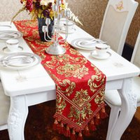 Wholesale Tea Table Cloths - Modern European style table cloth,Luxury table flag,Plant flowers table mats, wine red tea cloth, Other sizes can be customized