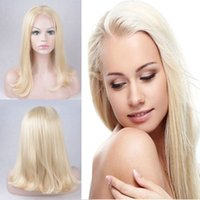 Wholesale Top Selling Lace Front Wigs - Top Selling Silky Straight Wig blonde Synthetic Lace Front Wigs Blonde 613 Color Heat Resistant Wigs Female Party Wigs