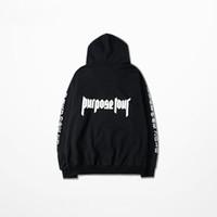 Wholesale Brand Staff - Wholesale-Justin bieber Purpose tour hoodies men women hip hop sweatshirt kanye west staff pullover fear of god sportswear brand jumper