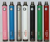 batarya protokolünü değiştir toptan satış-EVOD BÜKÜM II Pil E Sigara 1600 mAh eVod Büküm 2 Pil 3.3 ~ 4.8 V 8 Renkler Vizyon 2 CE4 Mini Protank Vape Kartuşları Vape Kalem Kiti