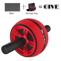 Wholesale Dual Gym - Red Ab Roller Abdominal Exerciser Dual Wheel Machine Musculation Body Strength Workout Gym Home Fitness Training Equipment