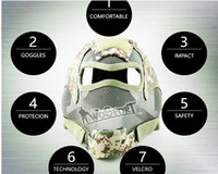 Wholesale Tactical equipment manufacturers selling outdoor live action cs shock mask mask baotou field tactical equipment protection