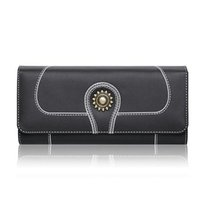 Wholesale New Design Leather Key Chain - 2017 New Women Wallets Genuine Leather High Quality Long Design Clutch Cowhide Wallet High Quality Fashion Female Purse J130