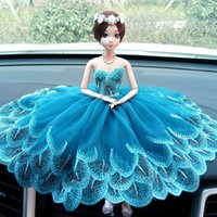 cartoon sound board - creative manual car wedding dolls The peacock lace on board barbie doll car furnishing articles