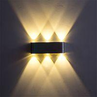 Wholesale Led Light Bar Bathroom - 6W Up Down Aluminum LED Wall Lamps Sconce Light For Bathroom Bedroom Corridor Porch KTV Bar Decoration Lighting AC110V 220V