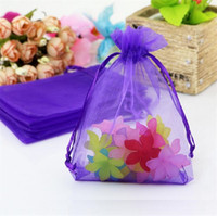 Wholesale 13x18cm organza bag - Hot Sales ! 100 pcs Jewelry Pouches Purple With Drawstring Organza Gift Bags.7x9cm . 9x12cm 13x18cm. 17x23cm .15x20cm 4640