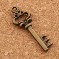 Heart Key Charms Pendentifs 200pcs / lot Antique Bronze Pendant Jewelry Bricolage Fit Bracelets Collier Boucles d'oreilles L890 10x30mm
