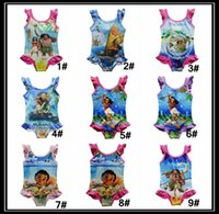 cartoon swimwear - 9 styles Moana Baby Girls One Pieces Swimsuit children cartoon Swimwear Moana printing Bikini kids bathing suit DHL shipping