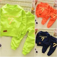 Wholesale Toddler Boy Green Pants - 2Pcs Baby Boys Casual Cotton T-shirt Long Pants Toddler Clothes Set Outfits