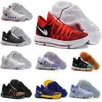 Wholesale Kd Usa - New Zoom KD 10 Anniversary University Red Still Kd Igloo BETRUE Oreo Men Basketball Shoes USA Kevin Durant Elite KD10 Sport Sneakers KDX