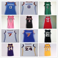 Wholesale Women Skirts Dresses - Women #0 Russell Westbrook Basketball Dress Skirt Jersey 3 Allen Iverson 4 Isaiah Thomas 7 Carmelo Anthony 13 James Harden 24 Kobe Bryant