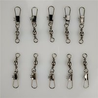 Wholesale Copper Lures - 50pcs swivels interlock snap fishing lure tackles winter #8 3.5CM fishing gear accessories Connector copper swivel