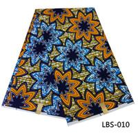 Wholesale Veritable Wax Block Prints - Veritable wax block prints fabric indian fabric sanhe quality wax printing fabric holland wax prints LBS-008