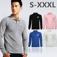 Wholesale New Shirt Style For Mens - 2017 New Brand Men Polo Shirt Mens Solid Polo homme Casual Long sleeve Tops for Man Full Print 100% Cotton Plus Size