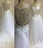 UK wedding dress sweetheart beading real - 2017 New Arabic Ball Gown Wedding Dresses Long Sleeves Sweetheart Lace Appliques Beaded Sheer Back Puffy Court Train Plus Size Bridal Gowns