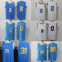 b460bb8418ea Mens UCLA Bruins 2 Lonzo Ball College Basketball Jerseys 0 Russell  Westbrook 31 Reggie Miller 32 Bill Walton Jersey Mix Order White Blue ...