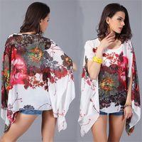Wholesale Korean Batwing Fashion - Top Women Summer 2017 Kawaii t shirt women camiseta summer tops t-shirt korean fashion clothing kimono chiffon blouse