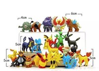 Wholesale Child Models Hot - 2017 HOTTEST Poke game 100 Styles Poke Figures Toys Pikachu Charizard Eevee Bulbasaur Suicune PVC Mini Model Toys For Children free shipping