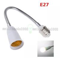 Wholesale Extended Socket - 2017 NEW New 60CM Extend Flexible E27 To E27 Base LED Light Adapter Converter Socket For Led globe bulb   Led Desk Lamp MYY
