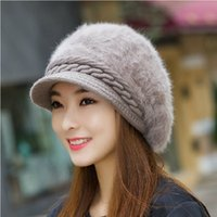 Wholesale Hats Short Hair - Autumn Winter Women Hat Lady Korean Fashion Hair Beret Short Canopies Beret Thermal Knitted Wool Cap