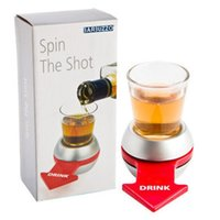 Wholesale Drinking Novelties Wholesale - Funny Spin The Shot Novelty Shot Drinking Game with Spinning Wheel Funny Party Item DHL Free JU010