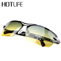 Wholesale Multifunction Sunglasses - Wholesale- 2017 Day & Night Vison Multifunction Men's Polarized Sunglasses Reduce Glare Driving Sun Glass Goggles Eyewear de sol