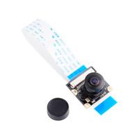 Wholesale Raspberry Pi Camera Board - Freeshipping Raspberry Pi Night Vision Camera Module Board 5MP 160 Wide Angle Fish Eye Surveillance Lenses