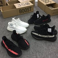 Wholesale Wholesale Womens Shoes Boots - Core Black Green 350 Boost V2 Shoe By Kanye Wests Triple White Sneakers For Mens Womens Zebra Bred Running Shoes