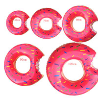 Wholesale Beach Toys For Adults - Summer Doughnut Design Style Swimming Rings 60-120cm Size For Adults and Children Inflatable Floats Swim Ring Beach or Pool Swim Toy