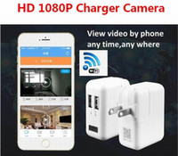 Wholesale Spy Wall Socket - New Wireless Wifi HD 1080P Spy Cam AC Plug Charger DVR Hidden Wall Charger Camera USB Adapter Home Security Socket Camera