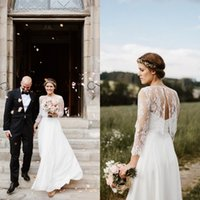 Wholesale Inexpensive Beach Dresses - Romantic Country Beach Wedding Dresses Simple Elegant Sweetheart Floor Length Inexpensive Bridal Gowns with Removable Exquisite Lace Jacket
