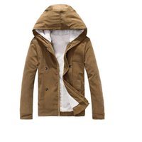 Wholesale College Outerwear - Wholesale- Good Quality Men Hooded Wool Liner Jackets New Male Autumn Winter Warm Outerwear & Coats Teen college style JACKETS size 3XL