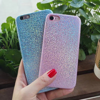 Custom Logo Colorful Case para iPhone 5 5S SE X 8 7 6 6S Plus TPU Soft Flash Powder Bling de lujo galvanoplastia cubierta suave