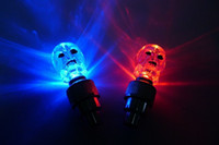 Wholesale Electric Incandescent Lamp - Wholesale 7 colour diamond gas mouth ghost head lamp Electric valve car lights Night riding a bicycle wheels