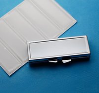 Wholesale Diy Pill Case - 3 day pill box case- 3 sections-Retro Rectangle Pill container-Metal pill case with Epoxy Sticker For DIY