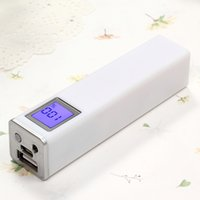 Wholesale Power Bank Output 1a - 2600mAh Power Bank Ultra-thin Highlight LED Power Banks 1A Output Cell Phone Portable Charger Powerbank Free shippi