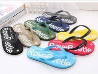 Wholesale Beach Water Sandals - Flip-flops Men Slippers Rubber soft Beach Flip Flops 3D Letters 8 colors Summer Fashion Men Sandals Water Upstream Shoes 2017 hotsale
