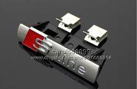 Wholesale A6 Grille - 3D Metal S Line Sline Car Front Grille Adhesive Emblem Badge Stickers Accessories Styling For Audi A1 A3 A4 A5 A6 A7 Q3 Q5 Q7 TT