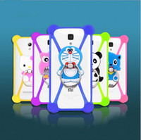 Wholesale 3d huawei phone case - Universal 3D Cartoon Silicon Rubber Case For iPhone 6s 6 Plus For Samsung For Huawei Anti-Shock Holder Phone Case Frame